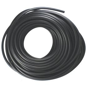 Buna-N Rubber Tubing: 3/8 in ID, 5/8 in OD, 0.125 in Wall Thickness, Black, 100 ft Overall Lg