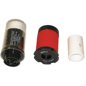 Air Systems Rep Filter Kit: Removes Oil, Water, Particulates, & Odors to Breathing Air, 18 Haz Material Indicator