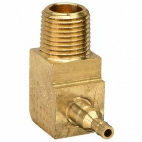 Parker Hannifin Brass Barbed Tube Elbow: Male, NPT, For 1/4 in Tube OD, 3/16 in For Tube OD 2, 150 psi Max Op Pressure