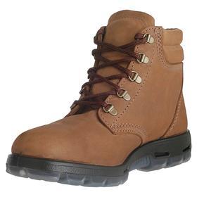 Redback Leather Work Boot: Men, Steel, 6 in Shoe Ht, Brown, Gen Use, Electrical Hazard Rated, Wide Toe Cap, 10 1/2 Men's Size, 1 PR