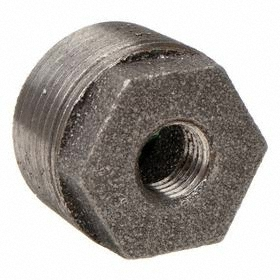 Anvil Threaded Black Reducing Hex Bushing: 150 Class, 3 Pipe Size (Port 1), 2 Pipe Size (Port 2)