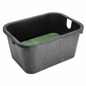 Valve Box: Polyethylene, Rectangular, 12 in Overall Ht, 20 in Overall Wd, 25 3/4 in Overall Lg, Black/Green/Sand