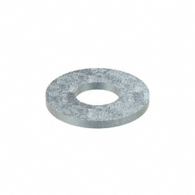 USS Flat Washer: 18-8 Stainless Steel, For 3/8 in Screw Size, 0.438 in ID, 1 in OD, 0.083 in Thickness, 50 PK