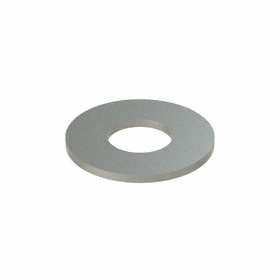 Flat Washer: 316 Stainless Steel, For M2 Screw Size, 2.2 mm ID, 5 mm OD, 0.300 mm Thickness, 50 PK