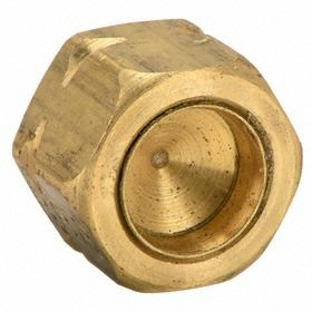 Parker Hannifin Brass Compression Tube Plug: 1/4 in Port 1 Tube Size, 2800 psi Max Op Pressure, 1/4 in Tube Size, 25 PK