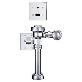 Sloan Automatic Flush Valve: Toilet, Single, 1.28 gal Water Consumption per Flush, 1 1/2 in Spud Coupling, 4 Pieces