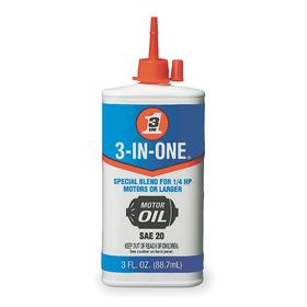 3-In-One Multipurpose Lubricant: 3 oz Container Size, For Electric Motors, 3 oz, Squeeze Bottle, Mineral Oil