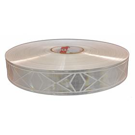 Clothing Reflective Tape: 2 in Overall Wd, White Backing, 300 ft Overall Lg