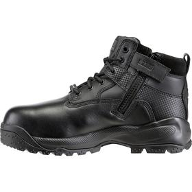 Puncture Resistant Work Boot: E Shoe Wd, 8 1/2 Men's Size, Composite, 6 in Shoe Ht, Leather, Black, 1 PR
