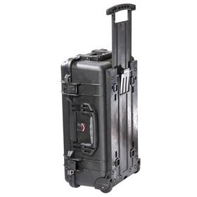 Protective Storage Case: 22 in Ht, 13 13/16 in Wd, 9 in Dp, Black, 11.99 lb Wt, Plastic