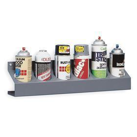 Can Caddy: Steel, 5 1/4 in Overall Ht, 21 1/2 in Wd, Dark Gray, Industrial Storage, Powder Coated, (6) Compartments