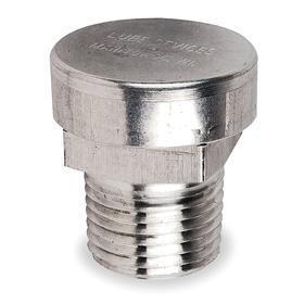 Protected Vent: 1 3/16 in Overall Ht, Relieve Excessive Pressure From Gearboxes, Silver, 18 Haz Material Indicator, Male
