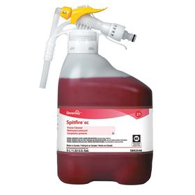 Diversey Spitfire All-Purpose Degreaser & Cleaner: Concentrated, 5 L Size, Hose End Sprayer, Pine, Gen Purpose, Red, CPS