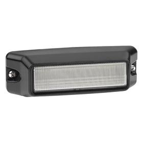 Federal Signal Exterior Vehicle Warning Light: Red/White, 4 1/8 in Overall Lg, 1 1/2 in Overall Ht, 12.0 V DC Volt