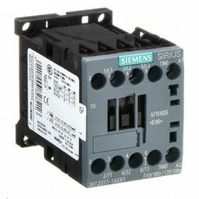 Siemens IEC Contactor: 3 Poles, Single/Three Phase, 12 A Current Rating, 1NO Auxiliary Contact Pole-Throw Configuration, 3 hp - Three Phase @ 240V