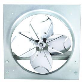 Direct-Drive Exhaust Fan: Reversible Flow, 1 Speeds, Wall, 115/230V AC, Single Phase, Wire Leads, 12 in Fan Blade Dia