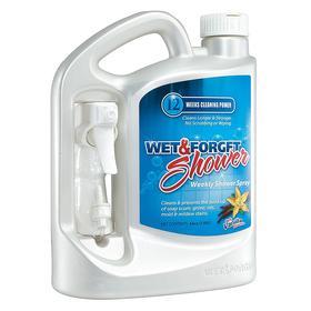 Wet & Forget Tile & Shower Cleaner: 64 oz Size, Bottle, Vanilla, Enclosures/Fixtures/Shower Curtains/Shower Glass/Tile