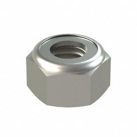 Nylon Insert Locknut: 18-8 Stainless Steel, M5 Thread Size, 8 mm Wd, 5 mm Ht, 50 PK