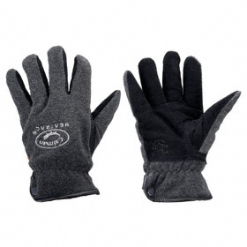 Cold-Resistant Glove: Mechanics Glove, L Size, 0° F Min Temp, Knit Cuff, Deerskin, Fleece, Black/Gray, 1 PR