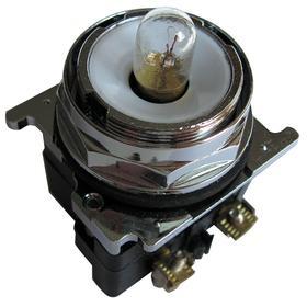 Eaton Pilot Light without Lens: 6V AC/DC, 2.03 in Overall Lg, Full Volt, For Incandescent, 10000000 hr Avg Life, Black