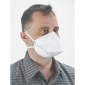 Disposable Particulate Respirator: N95 NIOSH Filter Rating, N Series, Nose Clip, Can Fold Flat, Dual Elastic, 20 PK