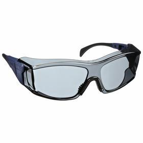 Honeywell Safety Glasses: Wraparound Frame, Scratch Resistant, Black, ANSI Z87.1-2010/CSA Z94.3-2007, Nylon/Polycarbonate, Adj Temples