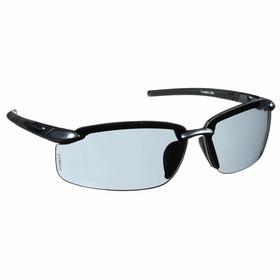 CrossFire Safety Glasses: Gray, Frameless Frame, Scratch Resistant, ANSI Z87.1, Plastic, Unisex, Polycarbonate