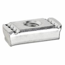 Pentair Channel Nut: Electro-Galvanized, Steel, Strut Nut Without Spring, Spring Allows for Easy Installation