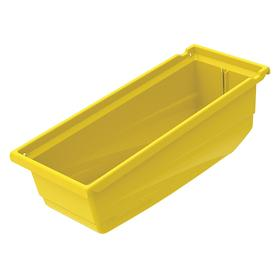 Akro-Mils Shelf Bin: Plastic, 6 1/2 in Overall Ht, 6 5/8 in Overall Wd, 17 1/2 in Overall Dp, Nestable, Yellow, Storage