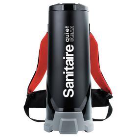 Sanitaire Vacuum Cleaner: Corded Power Source, HEPA, 6 1/2 gal Tank Dry Capacity, 120V AC, 50 ft Cord Lg, 3 Prong, Black