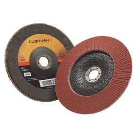 3M Angled Flap Disc: 7 in Disc Dia, Unthreaded Center Hole, Coarse Relative Grit Grade, 7/8 in Center Hole Dia, 40 Grit