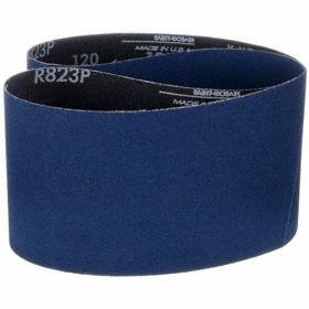 Norton Abrasive Belt: Medium Relative Grit Grade, 4 in Belt Wd, 36 in Belt Lg, X Backing Wt, 100 Grit
