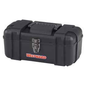 Tool Box: Plastic, 6 5/16 in Overall Ht, 8 in Overall Wd, 14 in Overall Lg, 6 5/16 in Inside Ht, 8 in Inside Wd, Black