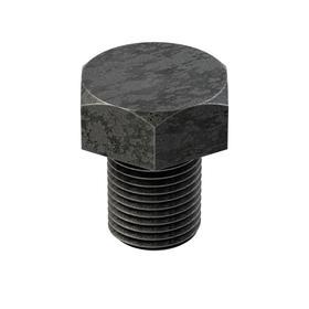Steel Hex Cap Screw: Black Oxide, Class 8.8 Material Grade, M16 Thread Size, 1.5 mm Thread Pitch, 20 mm Shank Lg, 25 PK