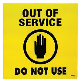 Brady Maintenance Sign: 14 in Overall Ht, 14 in Overall Wd, Plastic, Mounting Holes