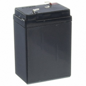 SLA Battery: 2 3/4 in Dp, Faston Terminal Type, 4.5 Ah Capacity, 4 3/16 in Ht, 1 7/8 in Wd