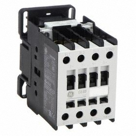 GE IEC Magnetic Contactor: 3 Poles, Single/Three Phase, 25 A Current Rating, 24V AC Control Volt, AC Current Type