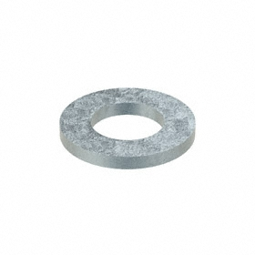 Flat Washer: Steel, Zinc Plated, 140HV Material Grade, For M12 Screw Size, 13 mm ID, 24 mm OD, 2.500 mm Thickness, 50 PK