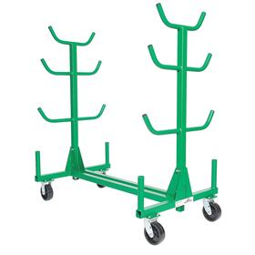 Greenlee Conduit & Pipe Storage Rack: 1000 lb Max Load Capacity, 63 1/2 in Overall Ht, 34 in Overall Wd, Rack Cart