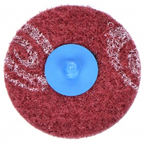 Norton Mesh Finishing Disc: Medium Relative Grit Grade, 3 in Disc Dia, Aluminum Oxide, 80 Grit, Blending/Finishing, TR