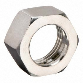 Stainless Steel Pipe Locknut: 304 Material Grade, Union, 1/16 in Wall Thickness, 3 Pipe Size (Port 1), Female