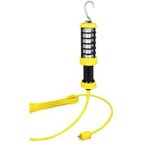 High-Illumination Linear Hand Lamp: Fluorescent, Aluminum Body, 14 1/2 in Overall Lg, 1710 lm, Bulb Incl, Yellow Body