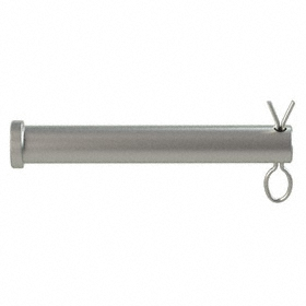 Clevis Pin: 316 Stainless Steel, 1/2 in Shank Dia, 3 17/64 in Usable Lg, 3 1/2 in Overall Lg, 0.63 in Head Dia, Hairpin