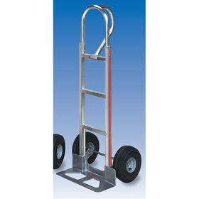 Lightweight Corrosion-Resistant Modular Hand Truck: 500 lb Max Load Capacity, Aluminum, Single-Loop Frame, 18 in Base Plate Wd
