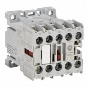GE Miniature IEC Contactor: 3 Poles, Single/Three Phase, 9 A Current Rating, 120V AC Control Volt, Miniature Body