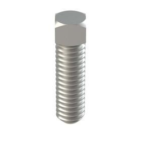 """Square Head Cup Point Set Screw: 18-8 Stainless Steel, 5/16""""-18 Thread Size, 3A Thread Fit, 1 in Shank Lg, 10 PK"""