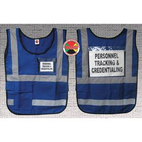 ANSI Class 2 Safety Vest: One Size Fits All Size, Nylon, Blue, Hook & Loop, 1 Pockets, Unisex, 62 in Max Chest Size