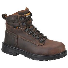 Carolina Leather Work Boot: Men, Steel, 6 in Shoe Ht, Brown, Metatarsal Guard, Electrical Hazard Rated, 7 Men's Size, 2E Shoe Wd, 1 PR