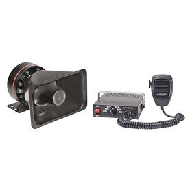 Vehicle Siren: Electronic Siren, 11.8 to 13.8V DC Input Volt, 50 W Power, Electric Power Source, 49 dB Sound Volume