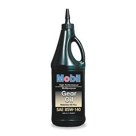 Mobil Automotive Gear Oil: 320 ISO Grade, Mineral Oil, 85W-140 SAE Grade, 26.3 cSt Viscosity @ 100° C, Drip Bottle